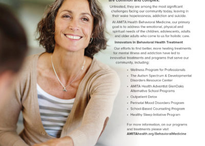 AMITA Health Behavioral Medicine ad