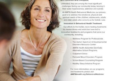 AMITA Health Behavioral Medicine ad