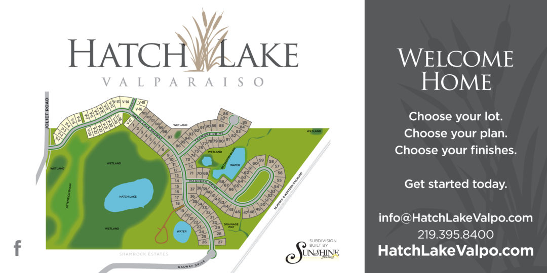 Hatch Lake Valparaiso – temporary entrance billboard
