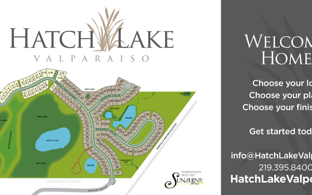 Hatch Lake Valparaiso – temporary entrance billboard