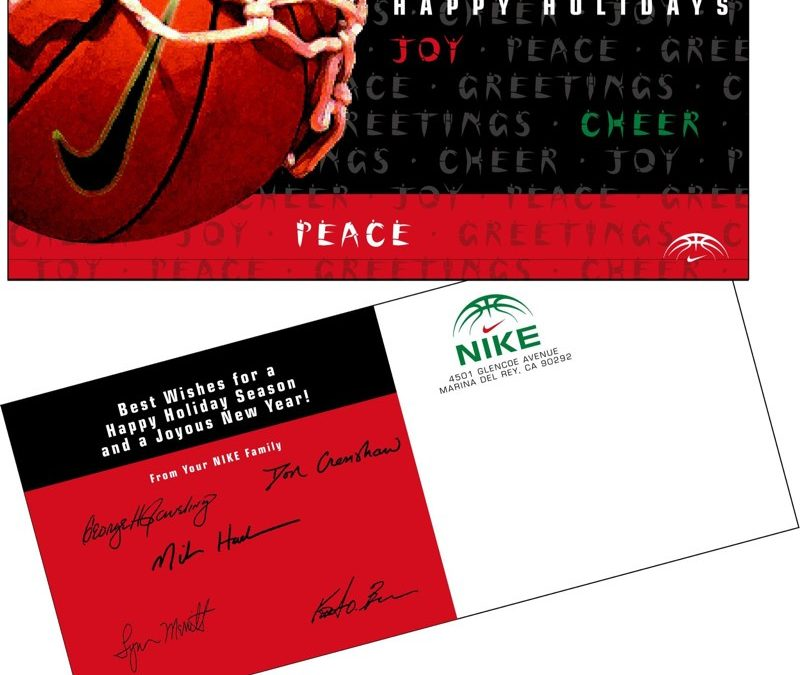 Nike 2000 George Raveling Christmas Postcard