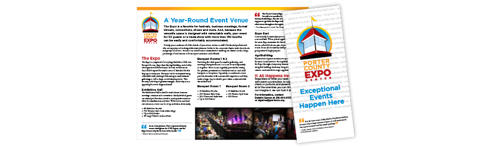 Porter County Expo brochure