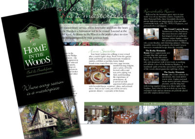 At Home in the Woods Bed & Breakfast Brochure