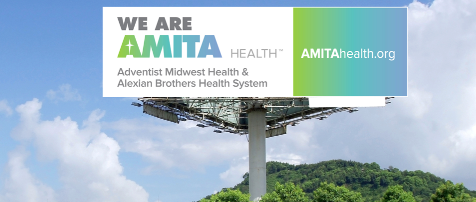 AMITA Health Launch Billboard