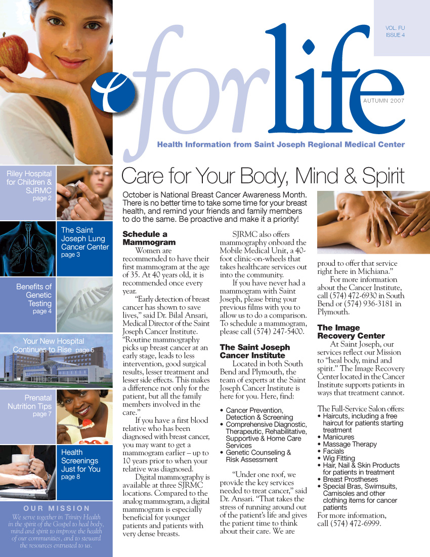 SJRMC – For Life Newsletter/Magazine