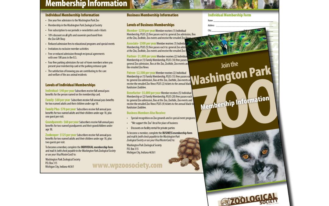 Washington Park Zoo Brochure