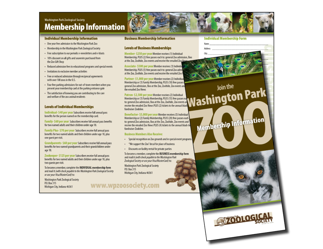 Washington Park Zoo Brochure