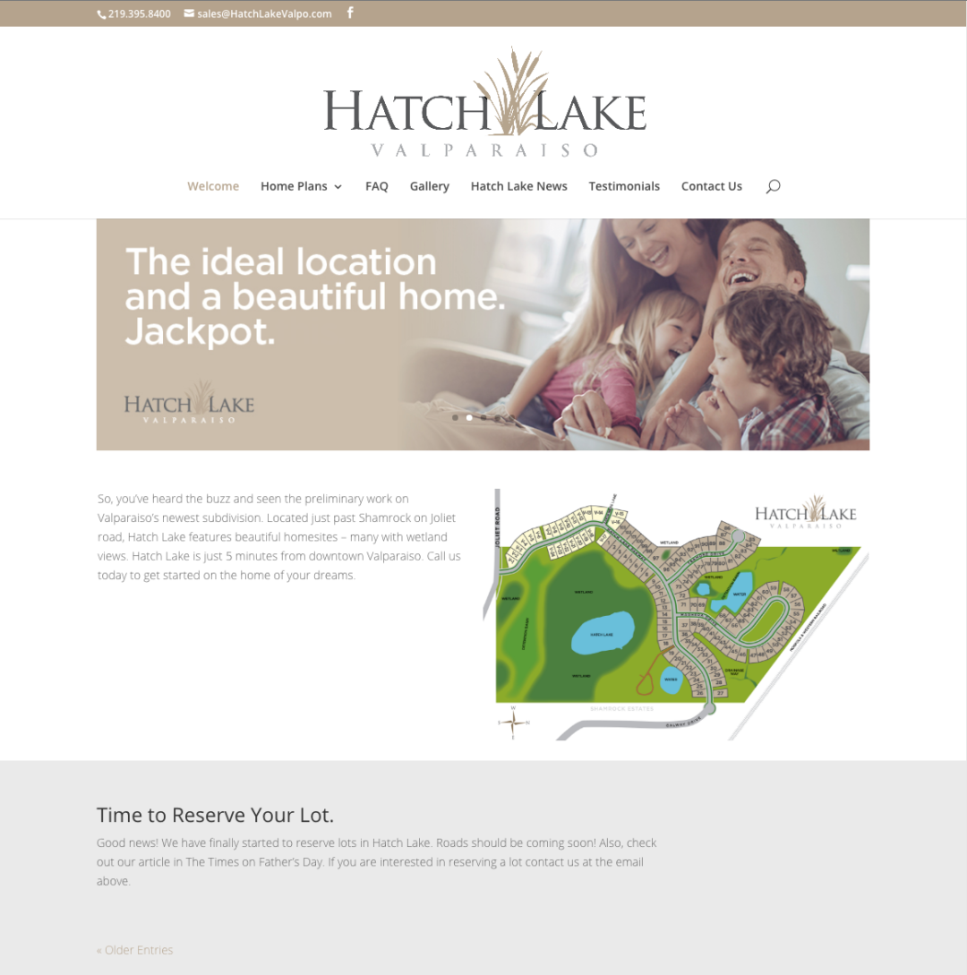 HatchLakeValpo.com website